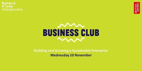 Business Club - Building a Sustainable Enterprise