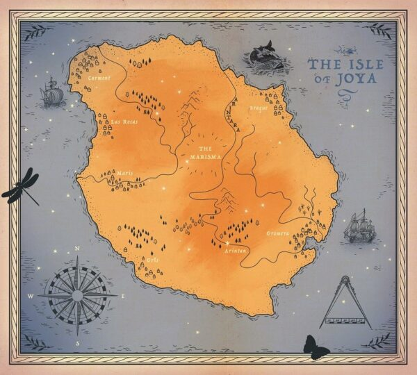 The Girl of Ink & Stars map