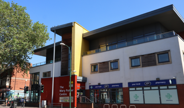 Hyson Green Library Mary Potter Centre Front