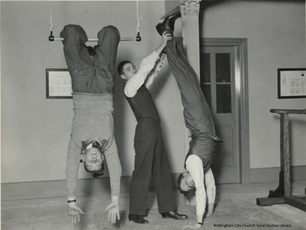 007 Staff in Gymnasium at Central Library 4 1933 edited