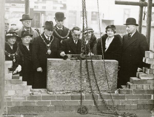 014 Aspley Library, laying of foundation stone 1937 edited