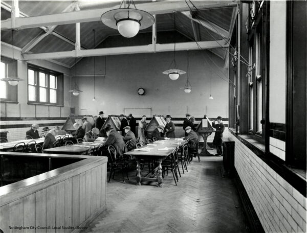 Reading Room Hyson Green Library 1938 edited
