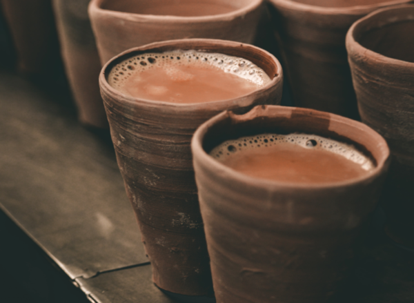 Clay Cup with Chai (Tea)