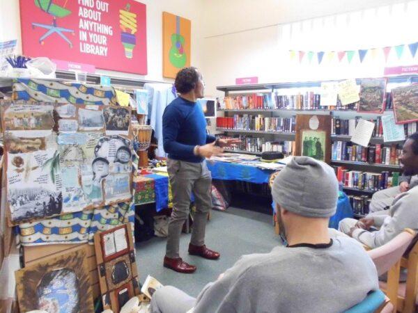 Photo of guest author David Stickman, delivering a workshop