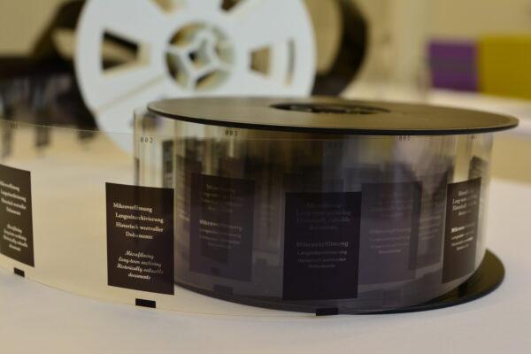 Microfilm on a reel