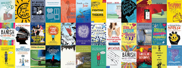 covers of teenage wellbeing books